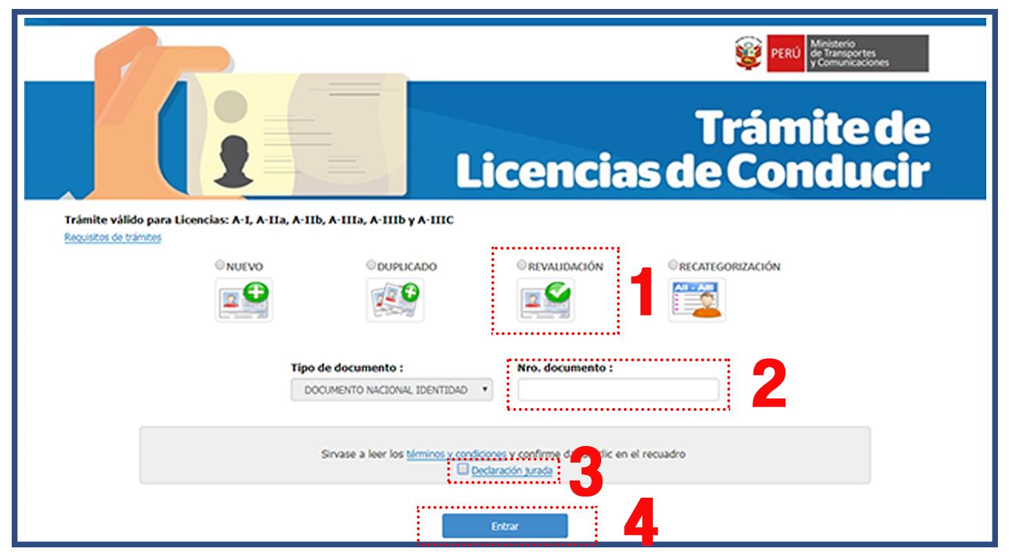 primer-paso-revalidar-licencia-de-conducir-online-brevetes-peru